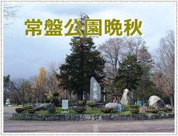 令-11-4常磐公園入口正面紅葉晩秋