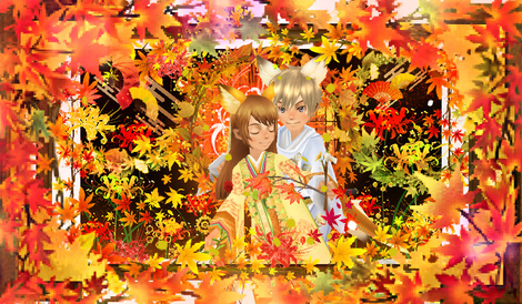 狐の嫁入り 秋(フリーサイズ)
