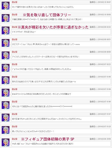 ソチ五輪実況その4(団体SP+フリー)