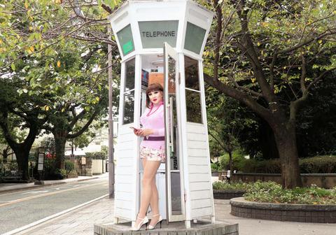 横浜135/レトロ電話ボックスjpg