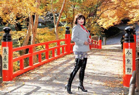 ブーツ9/今熊野神社黒ブーツ