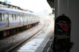 スノーボードと常磐線@佐貫駅