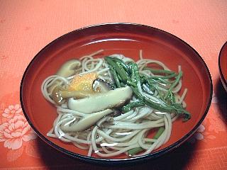 精進料理(夕食)蕎麦