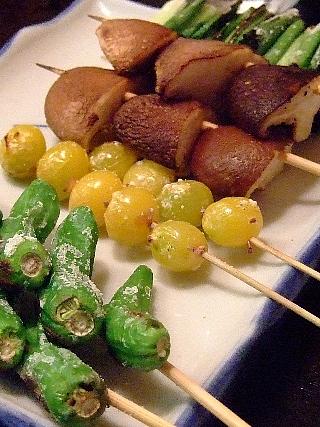 うな鉄11(野菜焼4種)