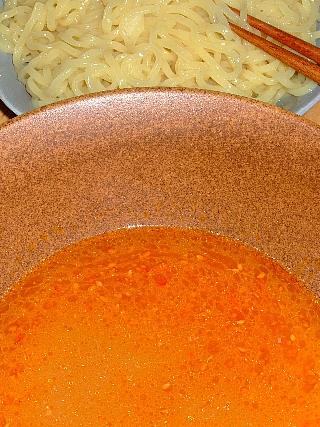 つけ麺実験06(生麺で味噌つゆ)