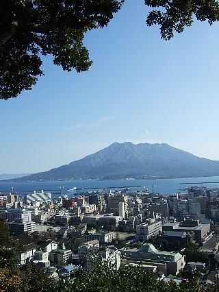 城山から桜島