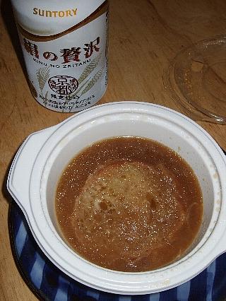 開晴亭オニオンスープ03