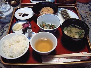 精進料理(朝食)