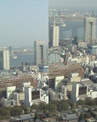 東京タワー(250M)角度比較