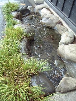17蔵の周囲の引き込み水