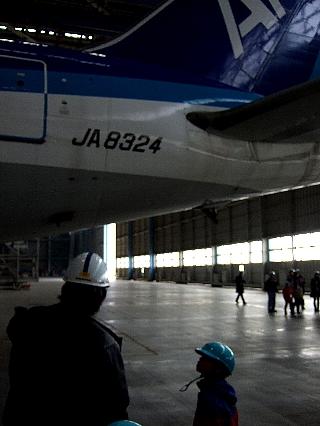 ANA機体整備工場見学13re