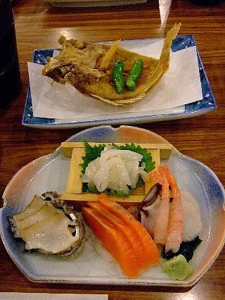 奥尻緑館夕食1日目03a