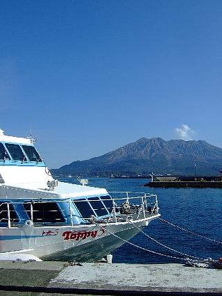 トッピーと桜島