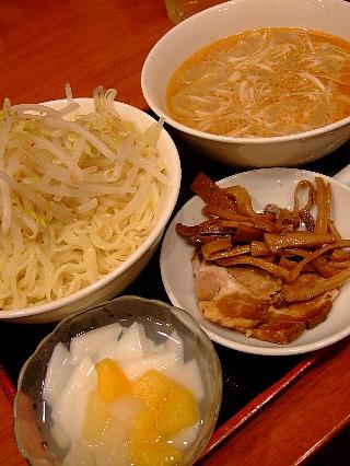 東魁楼の担々つけ麺セット02