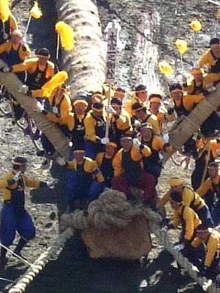 御柱祭り23
