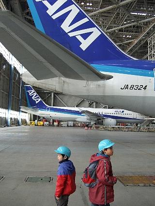 ANA機体整備工場見学12re