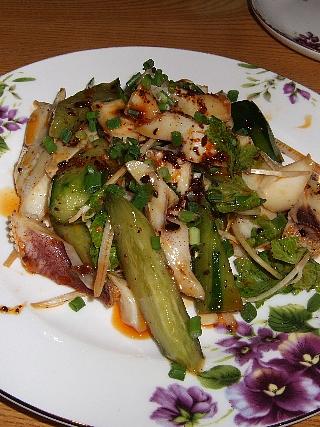珍珍01(蛸と胡瓜の前菜)