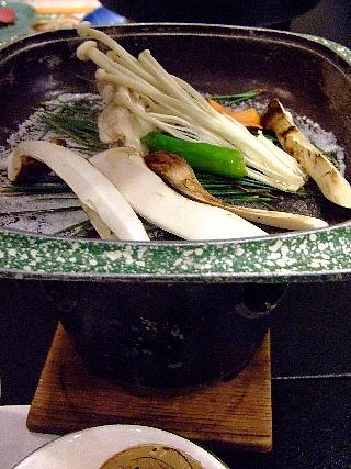 松茸尽くし06b(松茸の松葉焼)