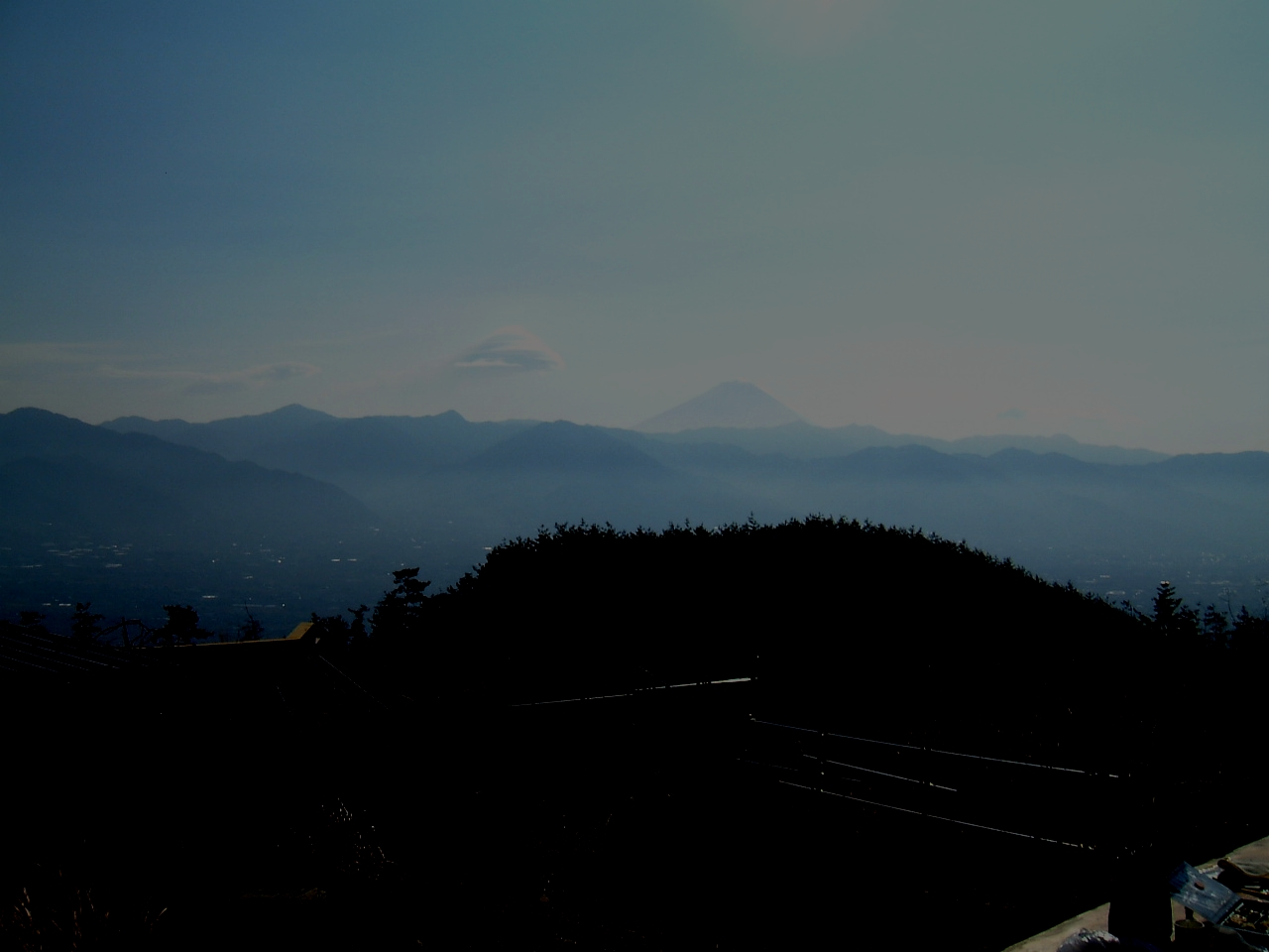温泉から富士