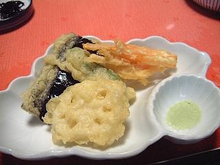 精進料理(夕食)天麩羅