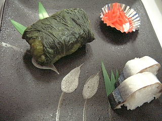 めはり寿司とサンマ寿司
