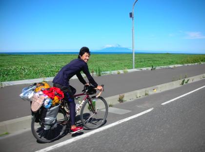自転車半周
