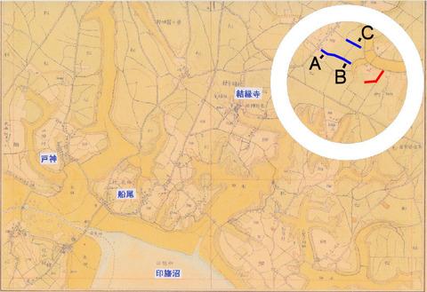 130916 草深の森(迅速測図)s 印あり