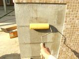 門壁 塗り仕上げ 下地シーラー