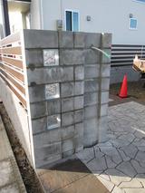 門壁 下地ブロック