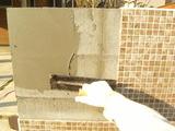 門壁 塗り壁 下地塗り