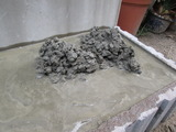 洗い出し いよいよ仕上げ砂利打設