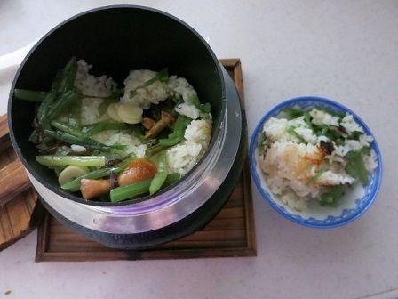 おうちで釜飯 (2)