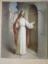 戸の前に立つイエス