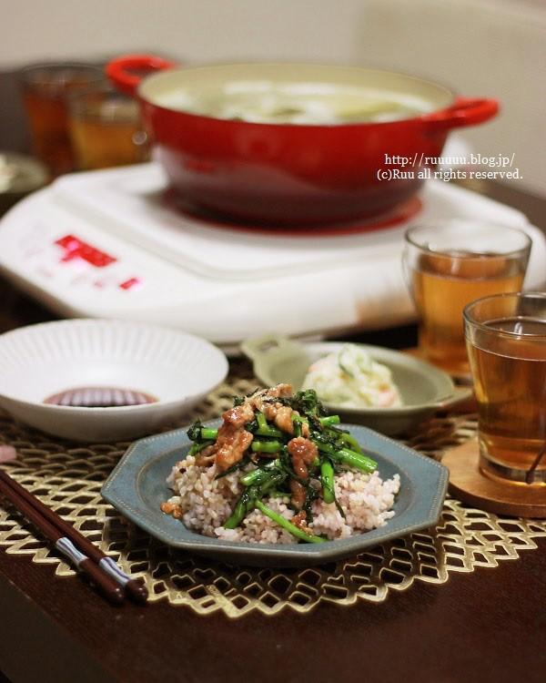 【レシピ】10分でできる春菊のオイスターバター丼。~バターVSマーガリン~