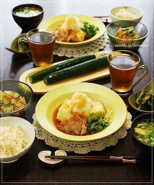 温度センサー。~豆腐と豚肉の揚げ出し~