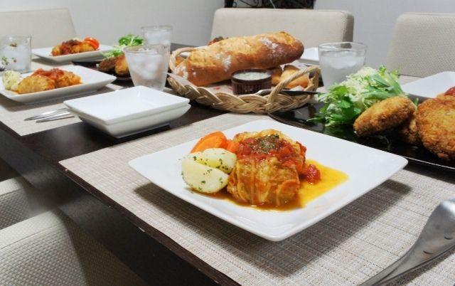 クープと気泡。~フランスパン&ロールキャベツとロール白菜のトマト煮&白菜メンチ~