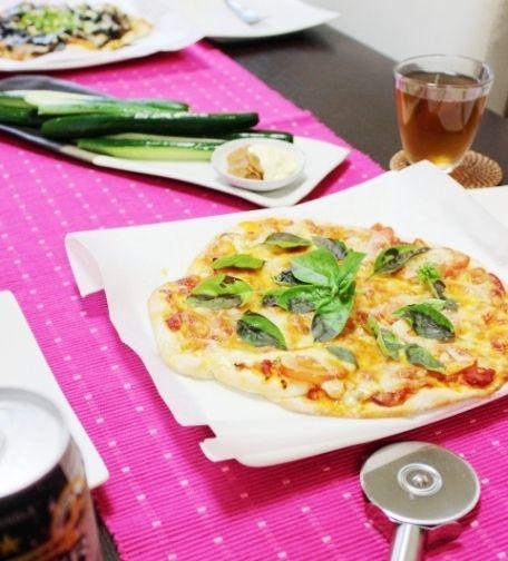 暑い。~茄子と舞茸の和風ピザ~