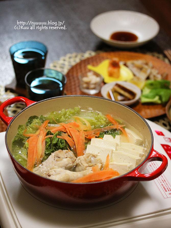【献立】ショボイ鍋と常備菜イロイロご飯。~朝ご飯の位置づけと思い出せなかったアレ~