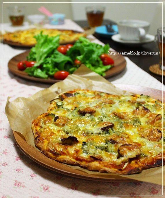 ピザにはガーデンで収穫したハーブを添えて。~ゴーヤピザ~