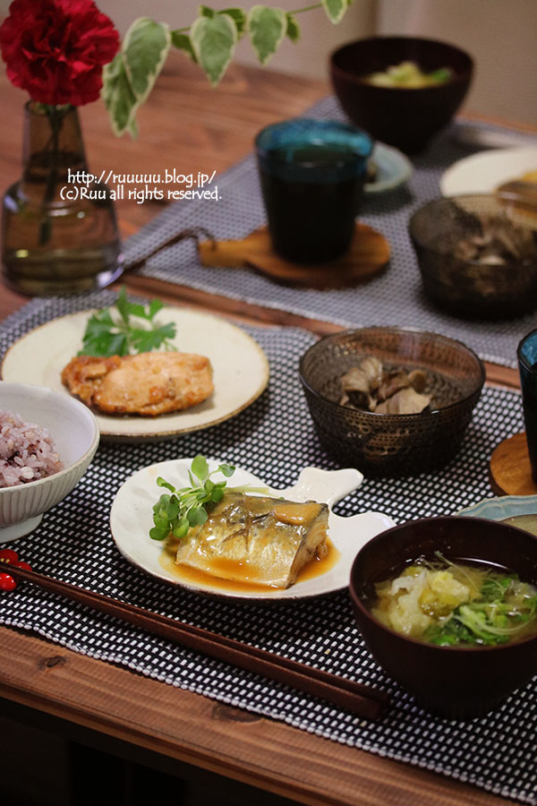 【献立】鯖の味噌煮などなど。~たらこご飯は2杯まで~