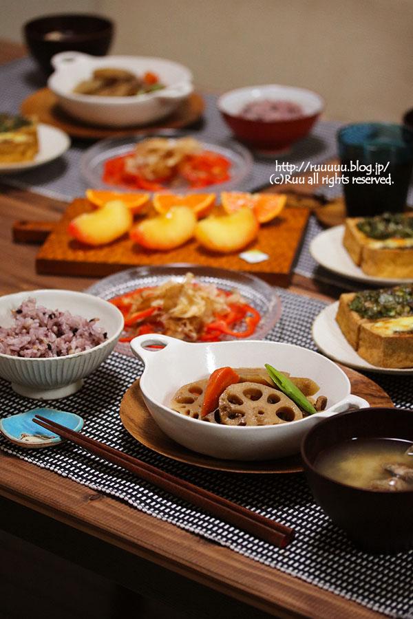 【献立】牛肉と根菜の煮物など。~フルーチェの作り方~
