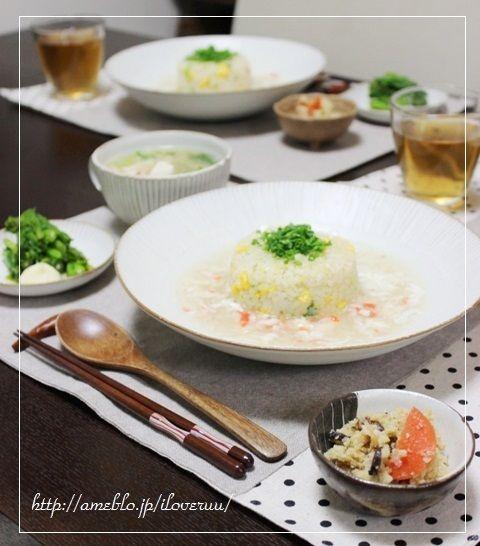 お裁縫。~蟹あんかけ炒飯&くずし豆腐と蟹のスープ~