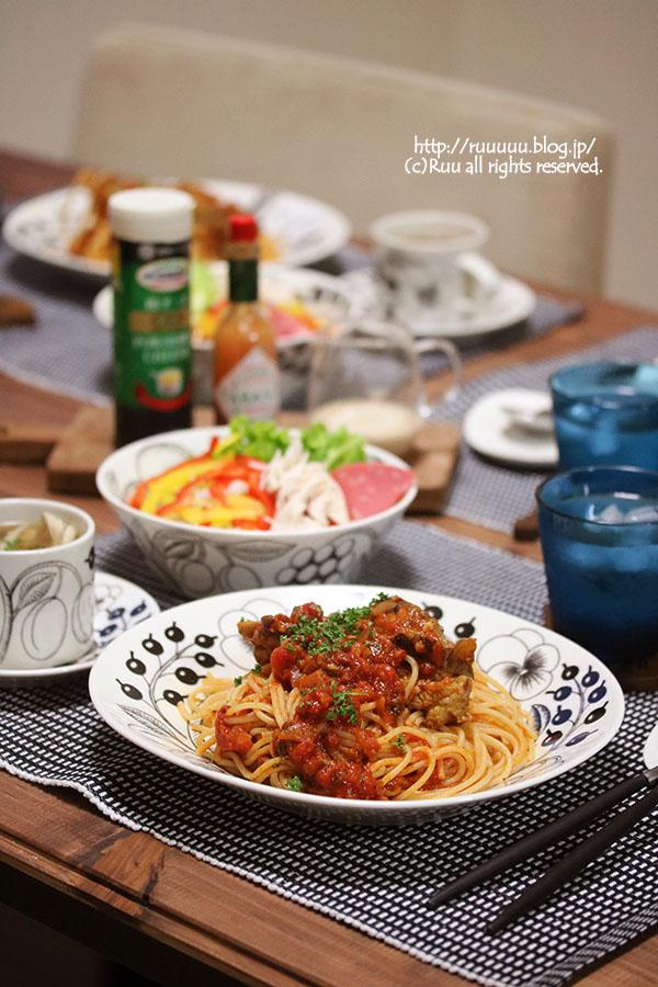 【献立】スペアリブのトマトソース煮パスタ。~一週間野菜を食べないとどうなるか。食べなかった結果~
