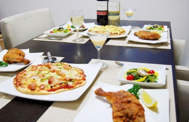 愛の証。~筍の和風ピザと牡蠣のガーリックオイル漬けdeカルパッチョ~