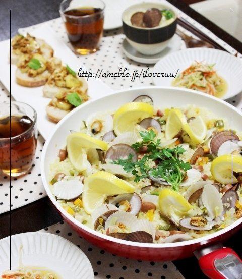 エイプリルフール。~ホタテの稚貝deパエリア&豆乳スープ~
