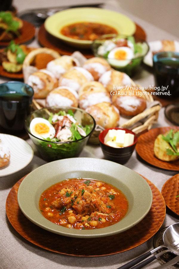 【レシピ】豚すね肉とひよこ豆のトマト煮。~SOJI!~