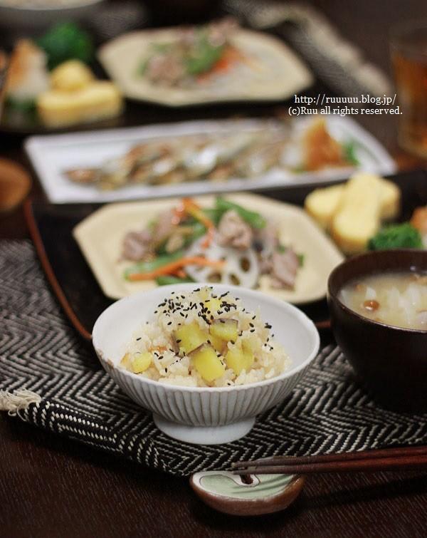 【レシピ】昆布出汁(という名の残り汁)で本格さつまいもご飯。~ひなVS魚~