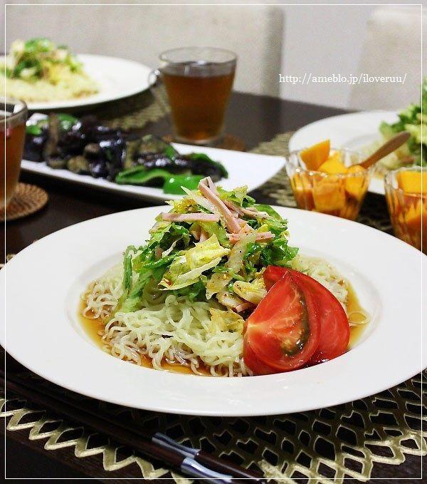 チョレギと野菜。~チョレギ冷やし中華~