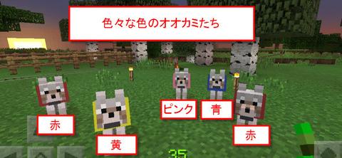 色々な色のオオカミ