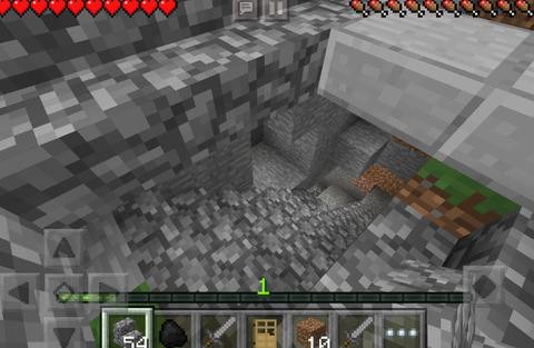 地下採掘用の穴も掘りました